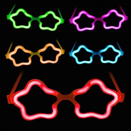 Gafas Luminosas Estrella a Granel