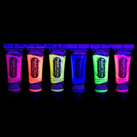 Pintura Neon Uv con Purpurina 10 ml