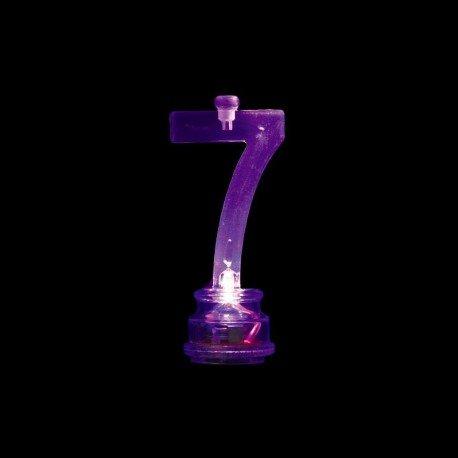 Número 7 Intermitente con 4 Velas