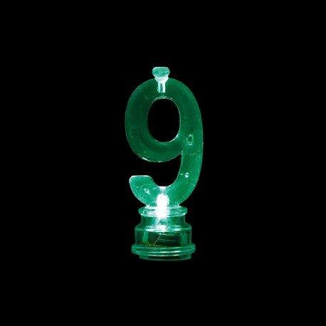 Número 9 Intermitente con 4 Velas