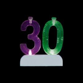 Número 30 Intermitente con 4 Velas