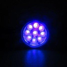 Linterna con 9 Leds de Luz Ultravioleta 9 cm