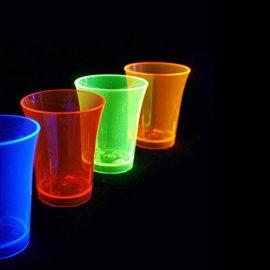Vasos Neon de Chupito (50 unidades)